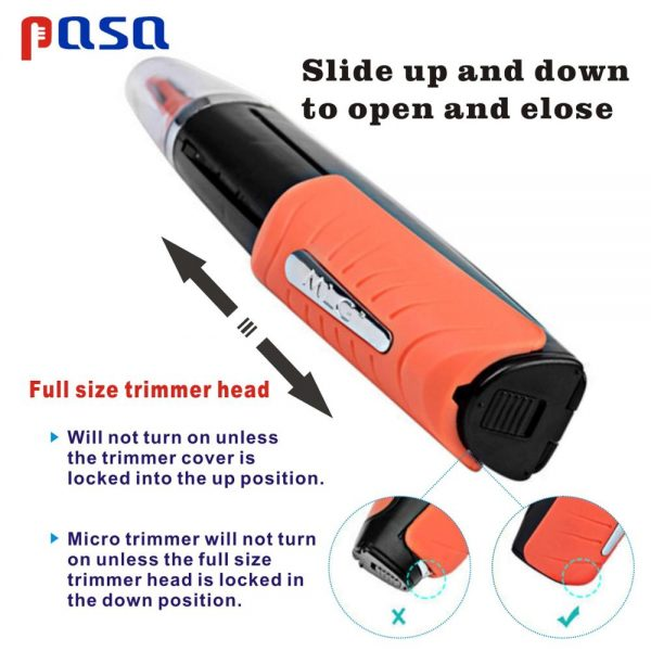 LED Light Multifunctional Nose Hair Trimmer Men Eyebrow Ear Hair Removal Haircut Machine Personal Face Care Shaver
