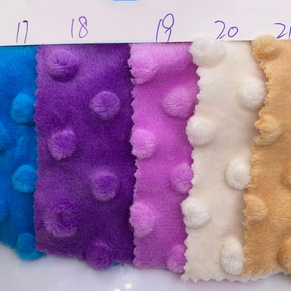 150x50/80/100cm 30color Super Soft Minky Dot Fabric For Meter Handwork Sewing Blanket Material Antipilling Plush Fabric
