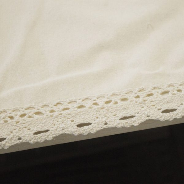 Beige 70% Linen Table Cover Rectangular Lace Edge Nappe Dustproof Tablecloth Home Wedding Party Decor Table Cloth Pa.an