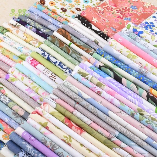 Chainho,Random Floral,Geometry&Cartoon Twill Cotton Fabric Patchwork,For DIY Quilting&Sewing,Fat Quarters Material,CP011,20x25cm