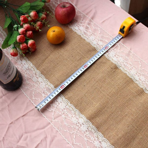 Natural Vintage Jute Linen Hessian Burlap Table Cloth Runner Country Event Wedding Decoration Party decor Supplies #01-16