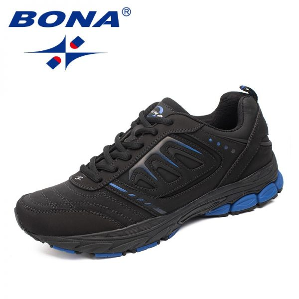 BONA New Style Men Running Shoes Ourdoor Jogging Trekking Sneakers Lace Up Athletic Shoes Comfortable Light Soft Free Shipping