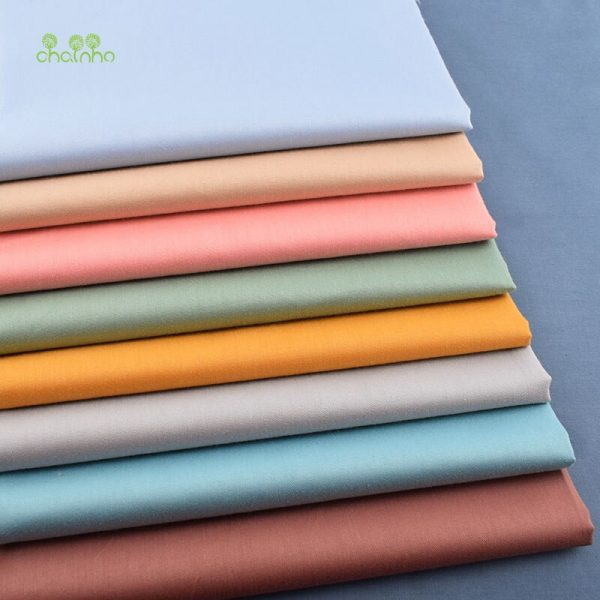Morandi Solid Color Series, Twill Cotton Fabric,Patchwork Clothes For DIY Sewing Quilting Baby&Child's Material,40x50cm