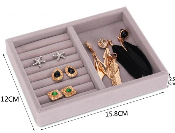 New Drawer DIY Jewelry Storage Tray Ring Bracelet Gift Box Jewellery Organizer Earring Holder Small Size Fit Most Room Space